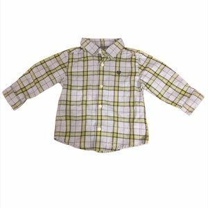Kid's Mayoral Plaid Button Down Shirt